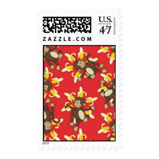 Banana Flower Monkey Stamps