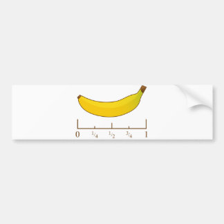 Banana For Scale Car Bumper Sticker