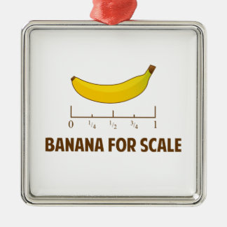 Banana For Scale Metal Ornament