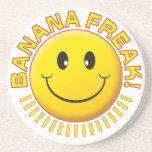 Banana Freak Smile Beverage Coasters