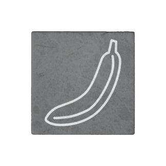 Banana Fruits Symbol Stone Magnet
