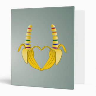 Banana Gay Pride Freedom Heart Binder