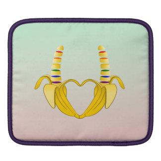Banana Gay Pride Freedom Heart Sleeve For iPads