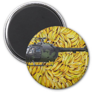 BANANA HELICOPTER 2 INCH ROUND MAGNET