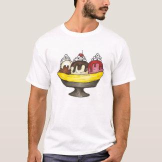 Banana Ice Cream Sundae Split Foodie T-Shirt