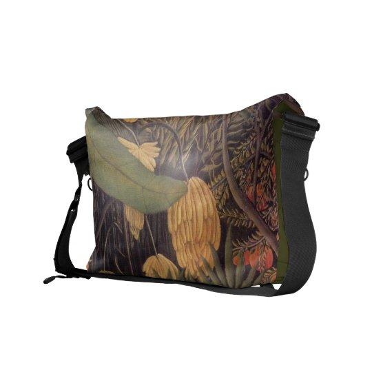 Banana Jungle By Henri Rousseau Rickshaw Messenger Messenger Bag
