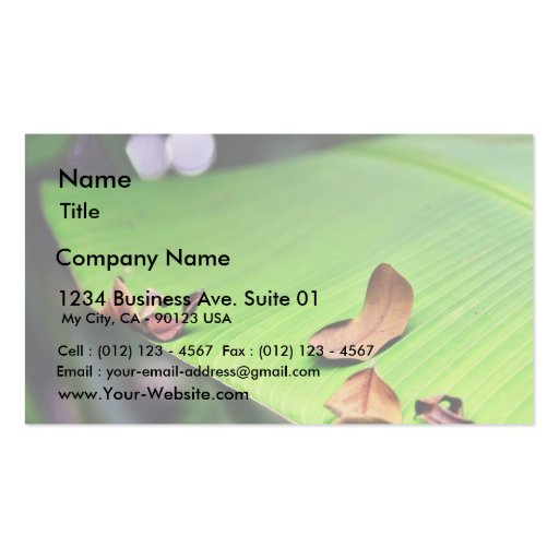 Banana leaf business card zazzle for Leaf business cards