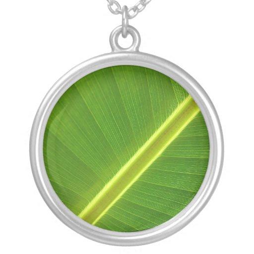 Banana Leaf Macro Custom Jewelry