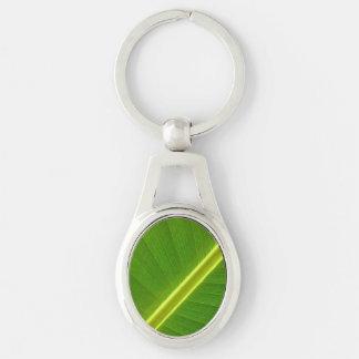Banana Leaf Macro Keychain
