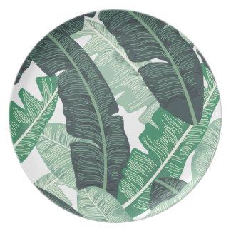 Banana Leaf Melamine Plate