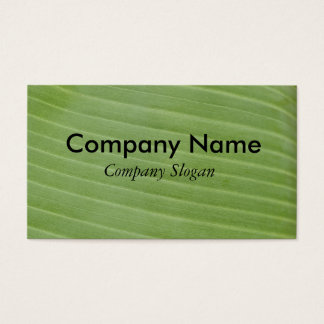 Banana leaf texture business card