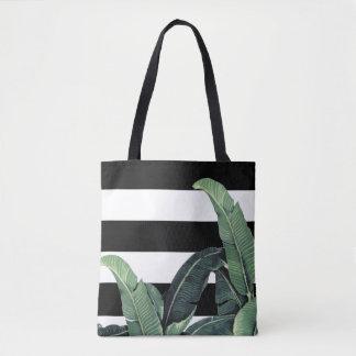 Banana Leaf Tropical Stripe Bag - Martinique Print