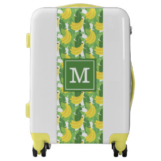 Banana Leaves And Fruit Pattern   Add Your Initial Luggage