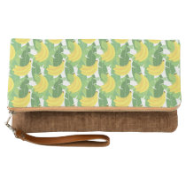 Banana Leaves And Fruit Pattern Clutch