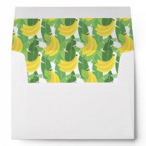Banana Leaves And Fruit Pattern Envelope