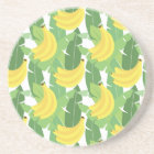 Banana Leaves And Fruit Pattern Sandstone Coaster