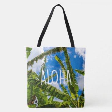 Beach Themed Banana Leaves, Grove Farm Hawaiian Aloha Beach Bag