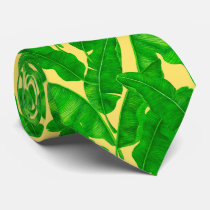 Banana leaves neck tie