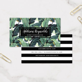 Banana Leaves Palm Tree Tropical Business Card