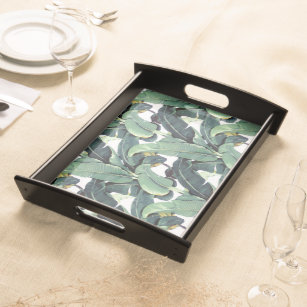 75751aa99 Banana Leaves Palm Tree Tropical Serving Tray