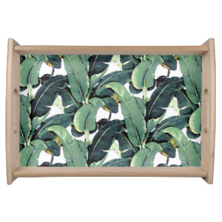 Banana Leaves Palm Tree Tropical Serving Tray