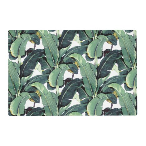 Banana Leaves Palm Tropical Laminated Placemat