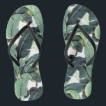 "Banana Leaves Palm Tropical Slim Strap Flip Flops<br><div class=""desc"">Banana Leaf Palm Tropical Slim Strap Flip Flops</div>"