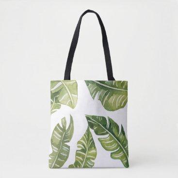 coastalbeachstyle Banana Leaves Tote Bag