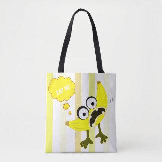 Banana Monster fruit illustration Tote Bag