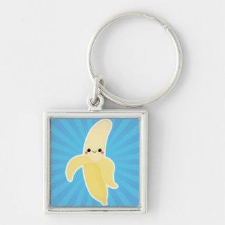 Banana on Blue Starburst Keychain