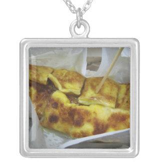 Banana Pancake [Roti Kluai Khai] Silver Plated Necklace