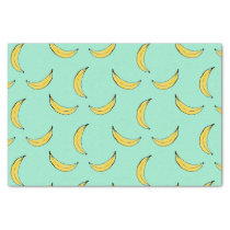 Banana Pattern - Blue Tissue Paper