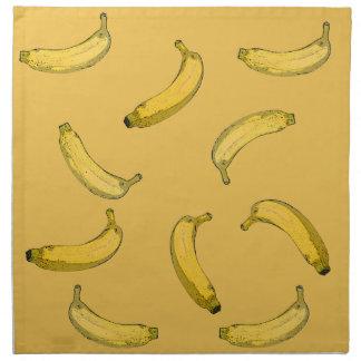 banana pattern cloth napkin