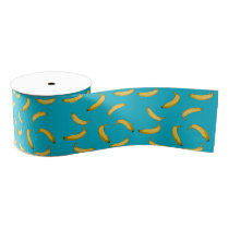 banana pattern grosgrain ribbon