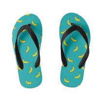 Banana Pattern Kids Flip Flops