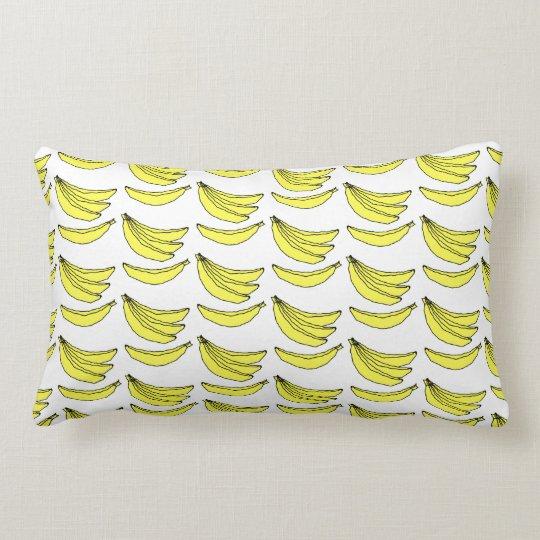Banana Pattern. Lumbar Pillow