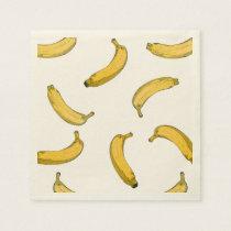 banana pattern paper napkin