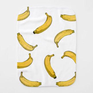 Banana pattern sketch version baby burp cloth