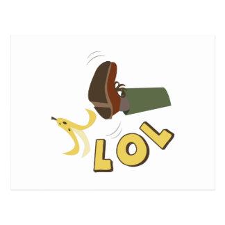 Banana Peel LOL Postcard