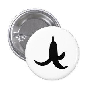 Banana Peel Pictogram Button
