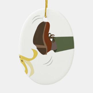 Banana Peel Slip Ceramic Ornament