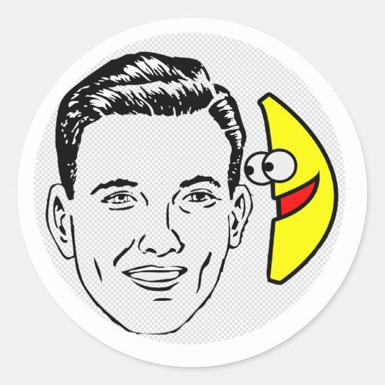 banana phone classic round sticker