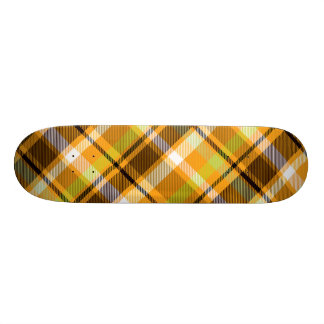 Banana Plaid Skateboard Deck