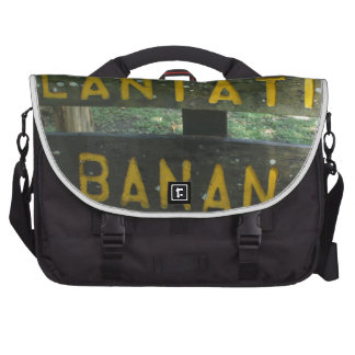 banana plantation laptop messenger bag