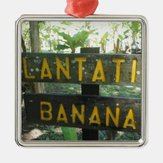 banana plantation metal ornament