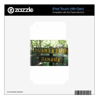 banana plantation skin for iPod touch 4G