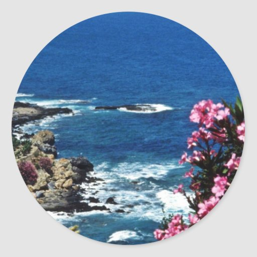 Banana Plantations, Turquoise Coast, Gazipasa Round Stickers