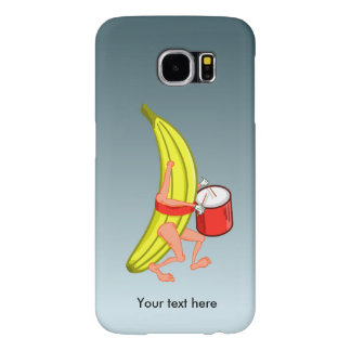 Banana Playing Strap on Drum Samsung Galaxy S6 Case
