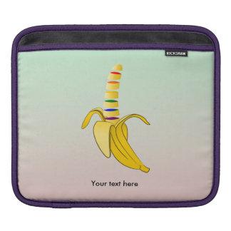 banana rainbow zazzle background.png iPad sleeve