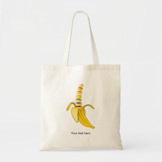 banana rainbow zazzle background.png tote bag
